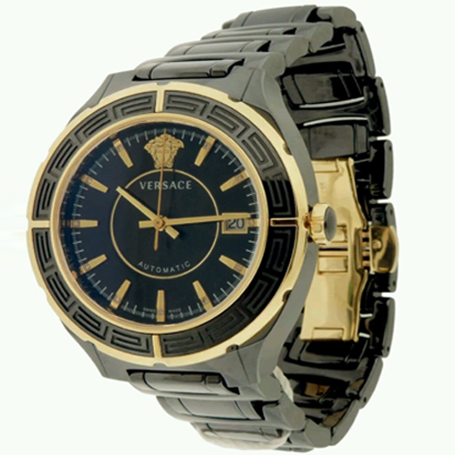 versace ceramic black and gold plated auto date men 039 s diamond giani versace ceramic black and gold auto date men s diamond watch