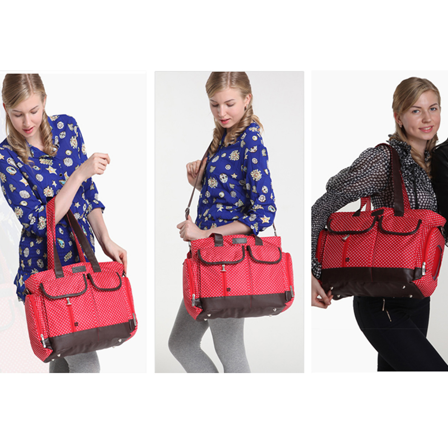 baby changing bag nappy diaper bags insulated wipe case 6pcs red ebay. Black Bedroom Furniture Sets. Home Design Ideas