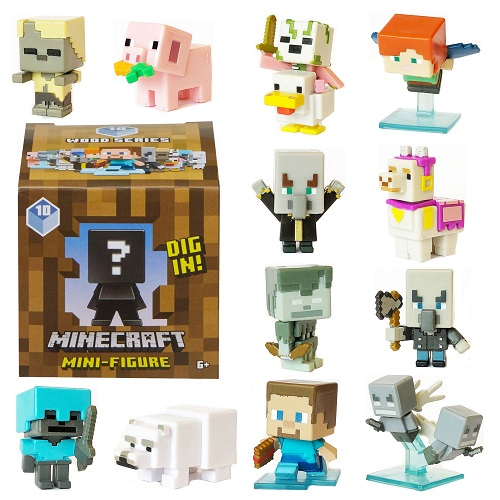 Minecraft Toys And Mini Figures For Kids : Minecraft mini figures wood series choose your