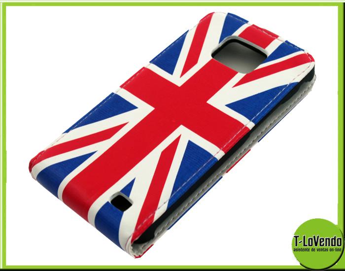 Pelle bandiera uk inglese inghilterra per samsung galaxy s2 i9100