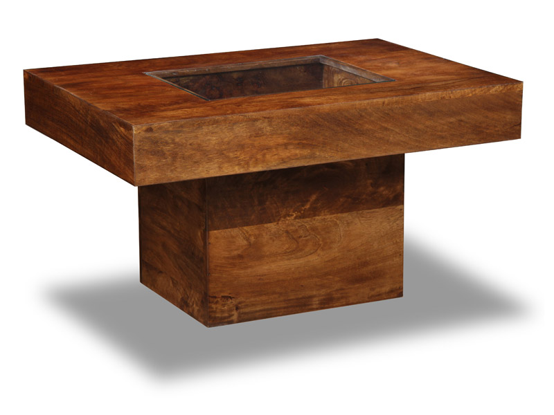 Details About Dakota Dark Mango Furniture Small Pebble Coffee Table 83n