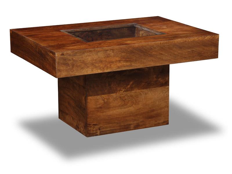Dakota Dark Mango Furniture Small Pebble Coffee Table 83n