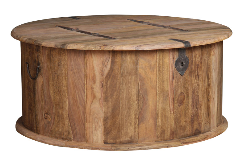 Details About Jali Natural Round Trunk Coffee Table J43n