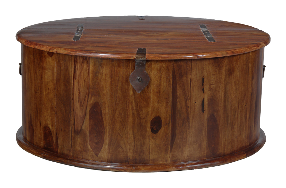 Details About Jali Sheesham Round Trunk Coffee Table J43