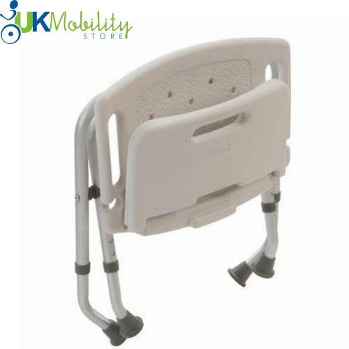 Folding Portable Shower Seat Backrest Stool Bath Chair